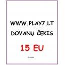Dovanų Čekis 15 EU