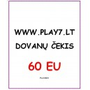 Dovanų Čekis 60 EU