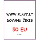 Dovanų Čekis 50 EU