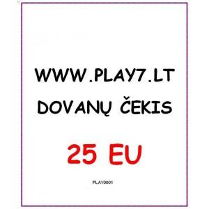 Dovanų Čekis 25 EU