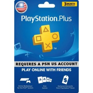 Playstation Plus 3 Month Membership  USA  Account (PS3, PS4, PS VITA)